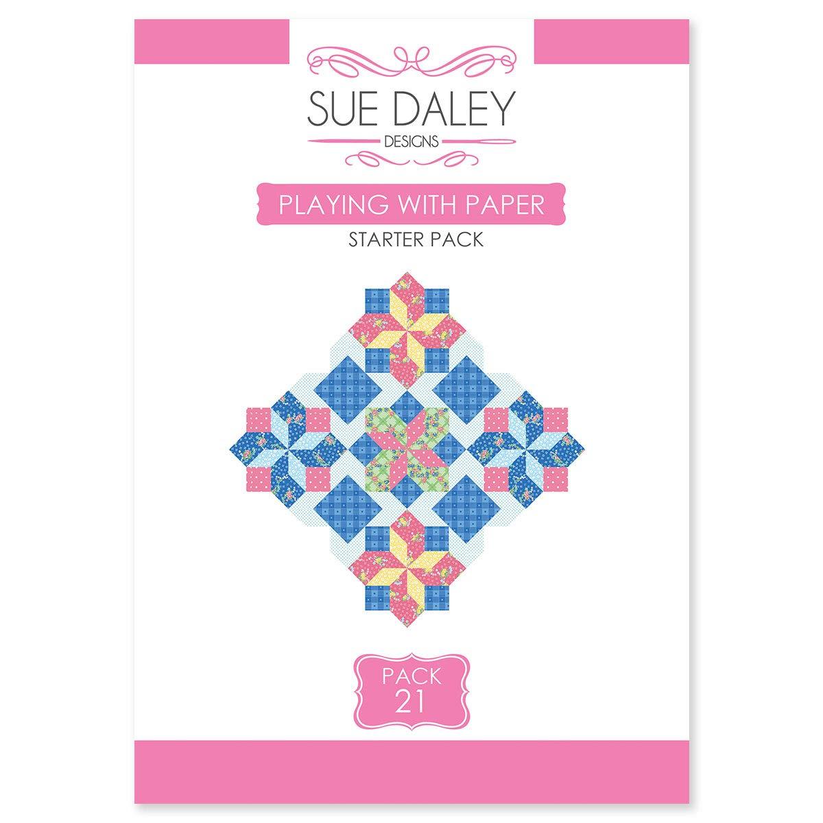 Sue Daley Designs 紙スターターパック付き #21 パターンテンプレートと紙 EPP 英語のペーパーピース付き B07HQVVNZ8