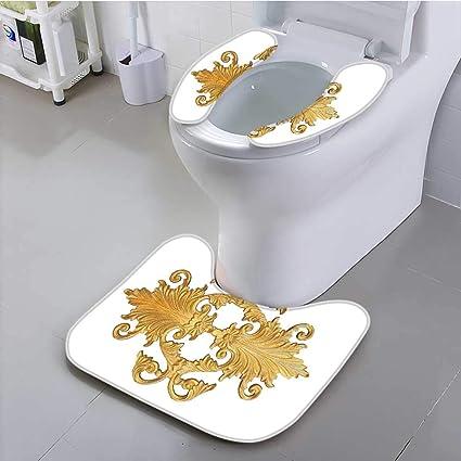 046a9414224 Amazon.com  Jiahonghome Universal Toilet seat Pattern of g Metal ...