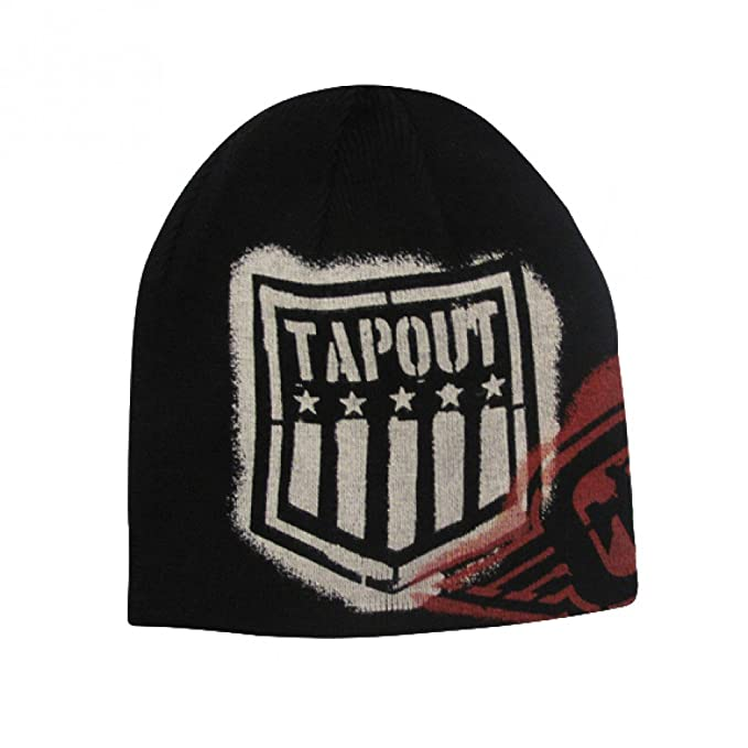 27714ca4996631 Amazon.com: Tapout Branded Black Mma Beanie: Clothing