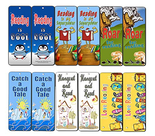 Creanoso Kids Reading Bookmarks Cards (60-Pack) - Excellent Reading Rewards and Incentive for Young Readers Kids Boys and Girls - Stocking Stuffers