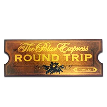 image relating to Polar Express Golden Ticket Printable called LilyDeal Polar Categorical Spherical Family vacation Prepare Ticket