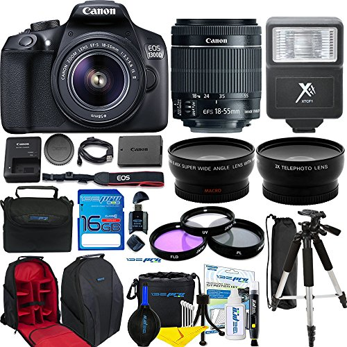 Canon EOS 1300D/Canon EOS Rebel T6 DSLR Camera w/ EF-S 18-55mm f/3.5-5.6 IS II Lens + Expo Accessories Bundle by Deal-Expo