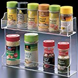 Two Shelf Spice Rack Organizer, Cabinet Mount Potential