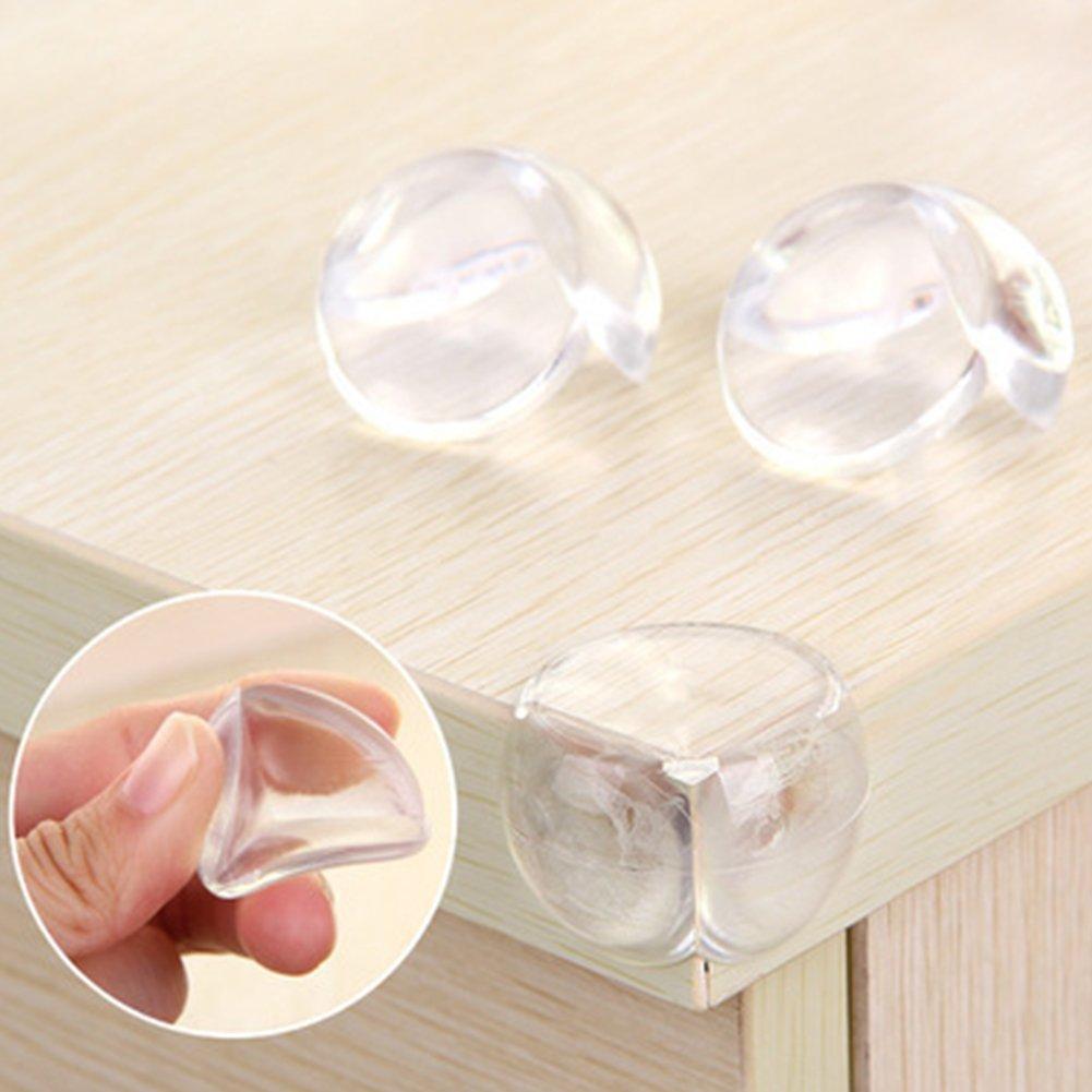 GEZICHTA Schreibtisch-Eckenschutz 4 St/ück//Pack Transparente Kugel Sicherheit Eckenschutz Tischecken Schutz f/ür Kinder und Baby