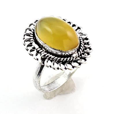 Jewellery & Watches Yellow Chalcedony Fashion Jewelry Silver Plated Ring S28244 A Great Variety Of Models