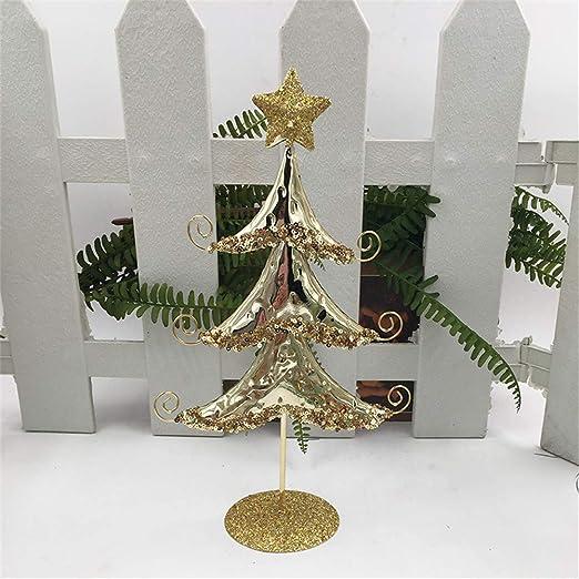 SO-buts Mini árbol de Navidad Decorado, árbol de Navidad de Metal ...