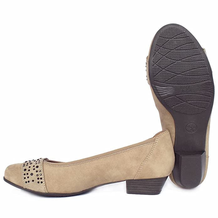 3350134abef23 Jana Stamford Women's Smart-Casual Wide Fit Shoes in Taupe Suede 4 Taupe  Suede: Amazon.co.uk: Shoes & Bags