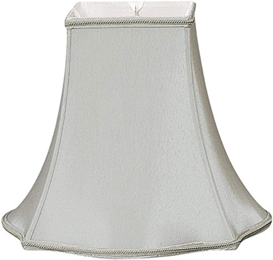 Royal Designs Fancy Square Designer Lamp Shade, Gray, 7 x 16 x 12.75