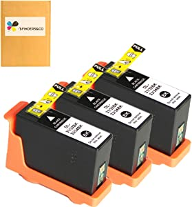 Compatible Dell Series 31 Black Ink Cartridges Replacement for Dell V525w Dell V725w Printers, 3Pack for Dell 31 32 33 34 Series Black Ink Cartridges