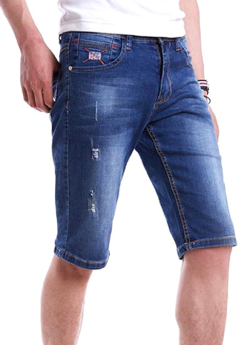 Yusky Mens Oversized Casual Loose Easy Care Cowboy Walk Shorts
