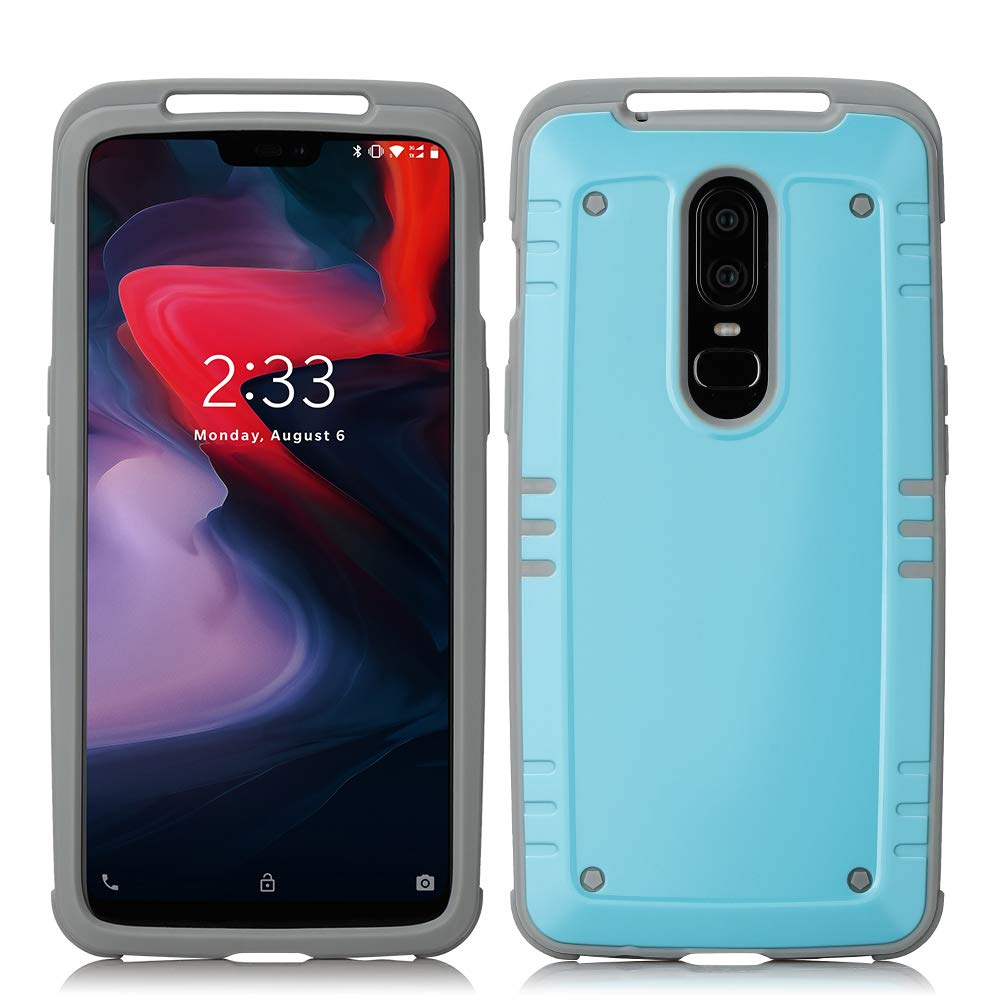 new arrival 85218 d75fd OnePlus 6 Case, Soft Flexible Silicone Rubber Gel Cover Hybrid PC Hard  Plastic Back Bumper Shockproof Anti-Scratch Dual Layer Protective One Plus  6 ...