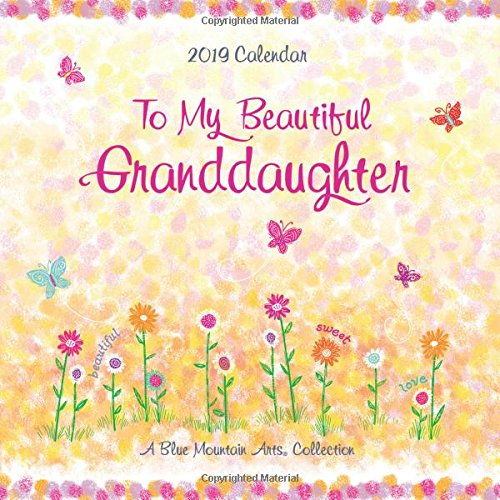 To My Beautiful Granddaughter 2019 Calendar