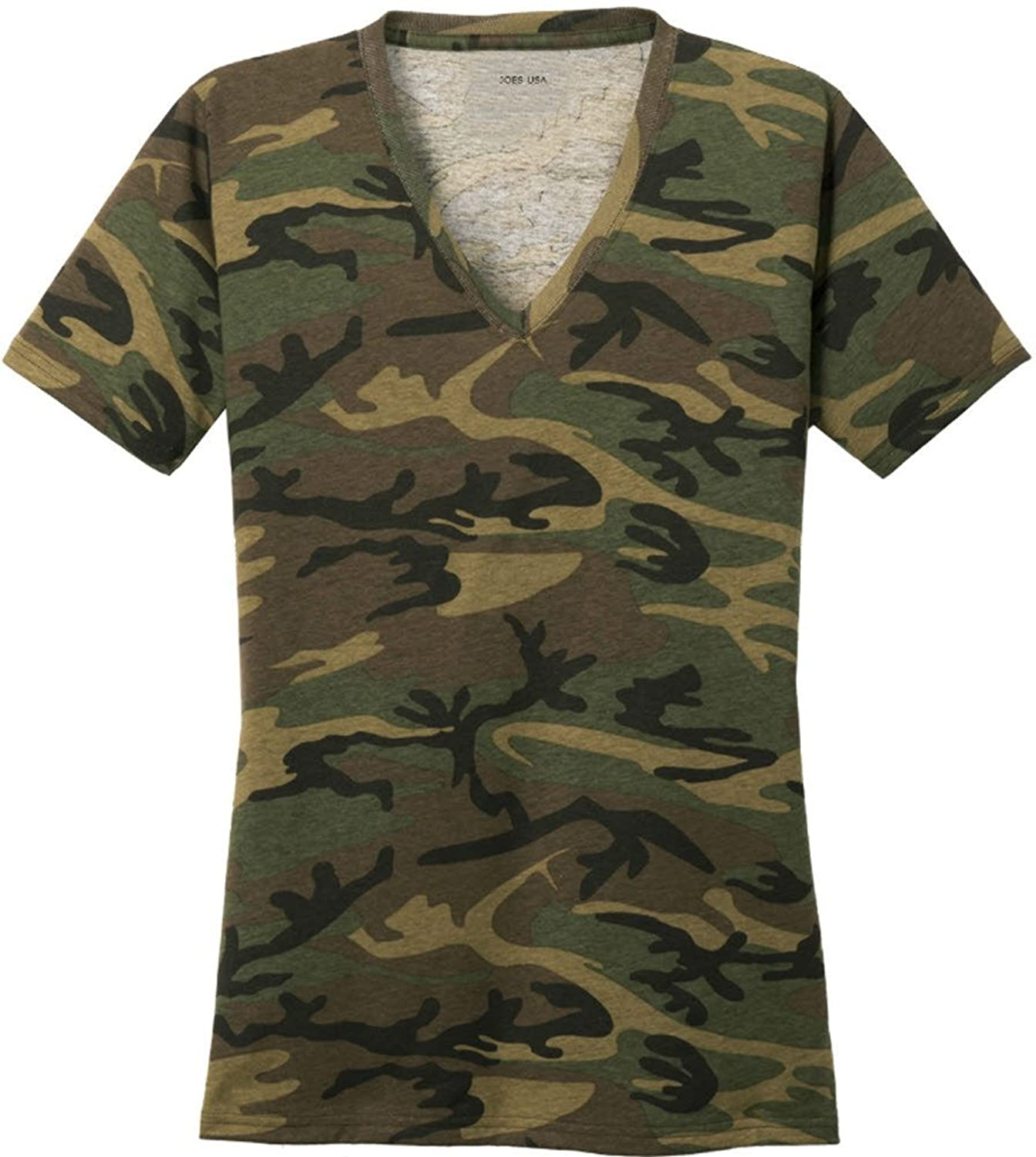 0b7b5426f12de Joe\'s USA(tm) Ladies Camo V-Neck Tees V-Neck T-Shirt. Colorfully cool, Why  hide? Stand out in this fashionable camo tee. Printed with Joe\'s USA(tm)  Logo ...