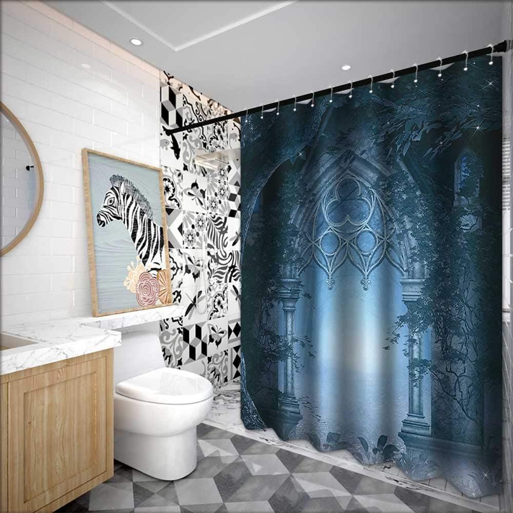 Cortinas de ducha para baño, color marrón y azul, colección de ...