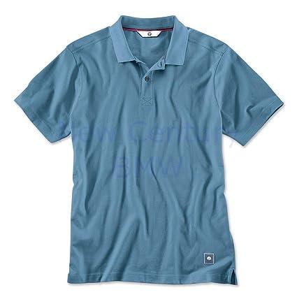 BMW auténtica camisa polo para hombre color azul - acero azul ...