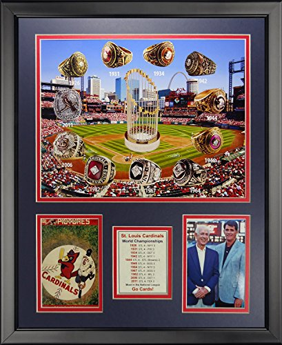 (Legends Never Die St. Louis Cardinals - World Series Rings and Championships Framed Photo Collage, 16