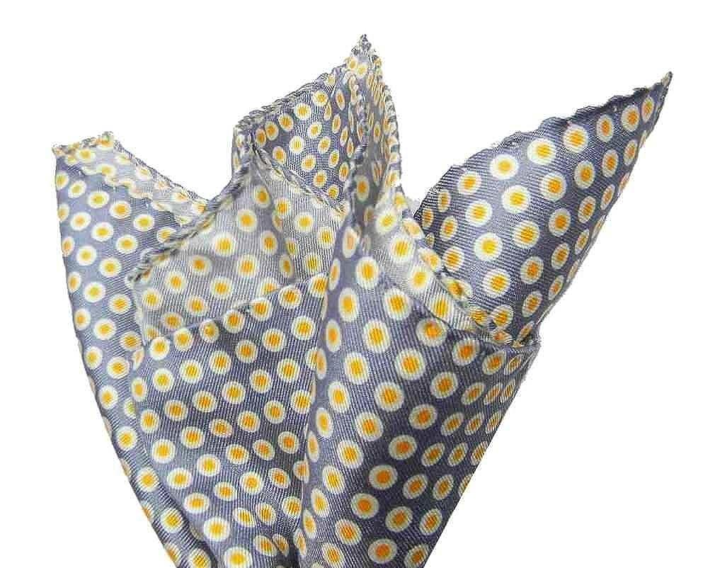 Avantgarde - Pochette uomo a pallini cravatta a farfalla a POIS retro vintage stile VARI COLORI, blu, grigo, arancione, rosso, verde, nero, bianco, bordeaux, fucsia