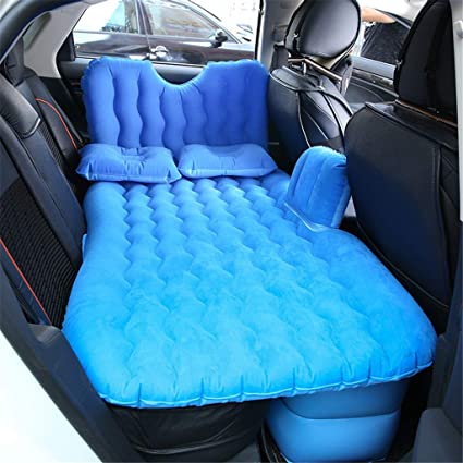 Car Back Seat Cover Travel Mattress Air Inflatable Bed with pump Self-driving