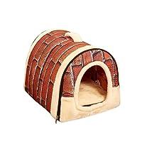 Cama cálida para mascotas, portátil, cálida y acogedora