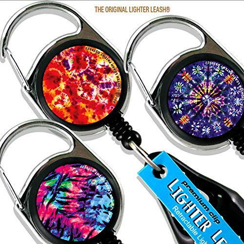 (LIGHTER LEASH Premium Clip Tie Dye Series)