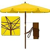 3.5 m Garden Parasol Sun Shade Patio Umbrella Outdoor Sunshade Canopy Sun Protection - Yellow