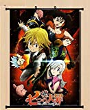 Home Decor Anime The Seven Deadly Sin Wall Scroll Poster Fabric Painting 23.6*31.5 inch 16