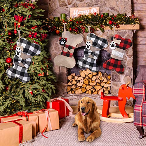 Yostyle Pet Dog Christmas Stockings Set of 3,Buffalo Plaid 18\