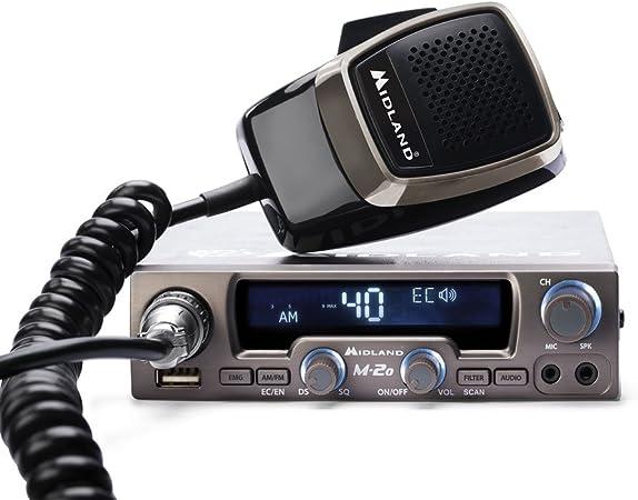 Midland M20 Transmisión Radio, Negro