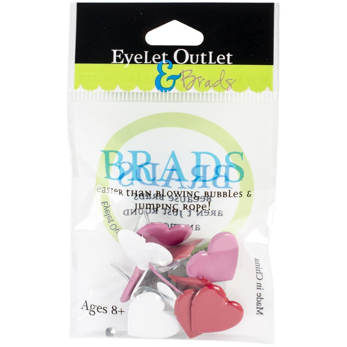 EYELET OUTLET Heart Shape Brads (12 Pack)