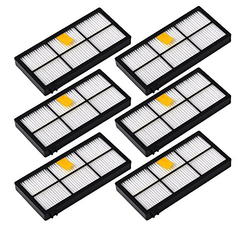 DoubleSun 6pcs Replacement Filters for iRobot Roomba 800&900 Series 890 891 894 860 861 864 880 870 980 960 961 964 (891 Series)