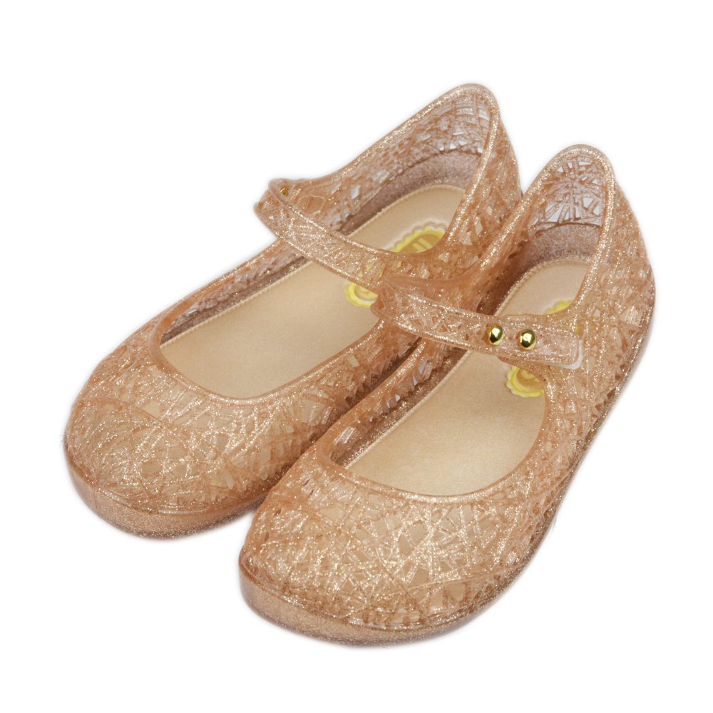 iFANS Girls Princess Jelly Sandals Mary Jane Bird Nest Layered Lines Flat IF-BliBird