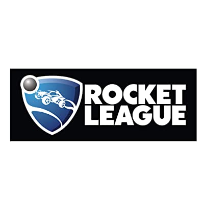 JINX Rocket League Logo Bumper Sticker, Black, 9x3: Toys & Games