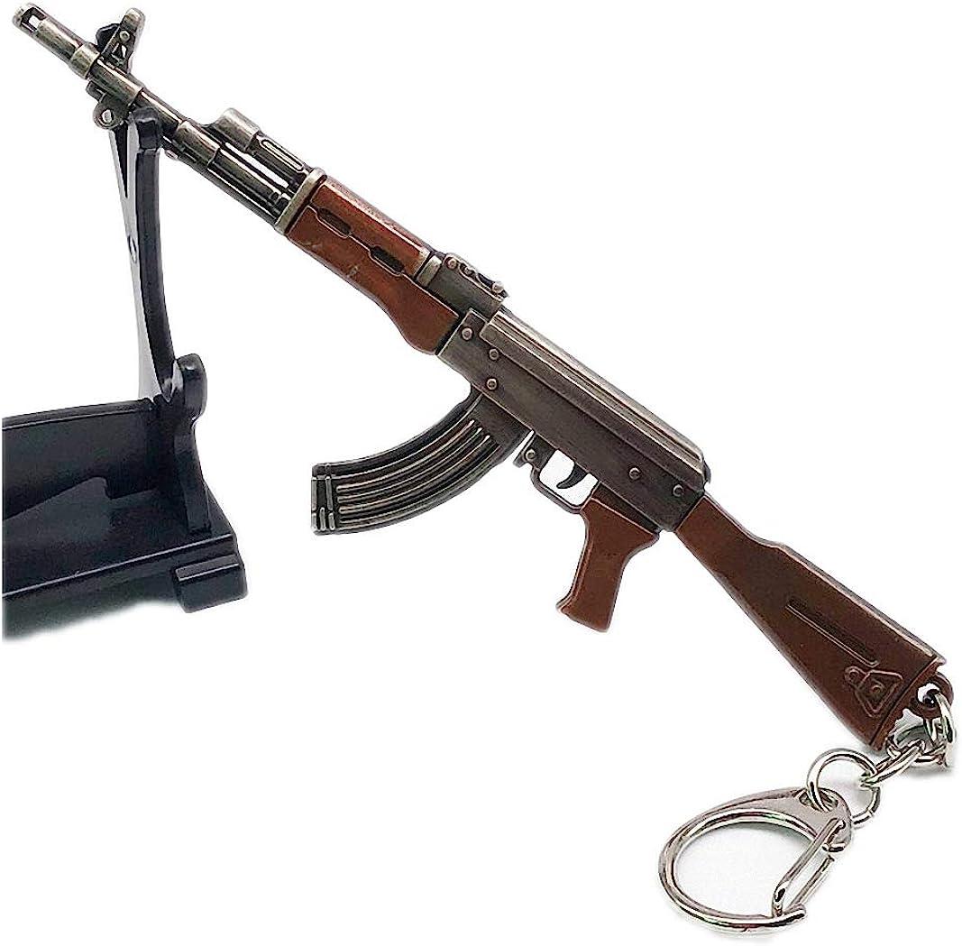 Womens 12cm 7.62mm Weapon Rifle AKM Model Key Chains AK 47 Toys Gun Keychains llaveros chaveiro Key Ring Keyring
