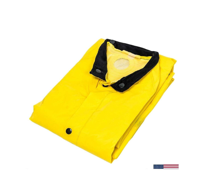 Heavy Duty 3 Piece Rain Suit Rainsuit Yellow Rain Coat Hat Pants 35mm LarGЕ 2-Packs