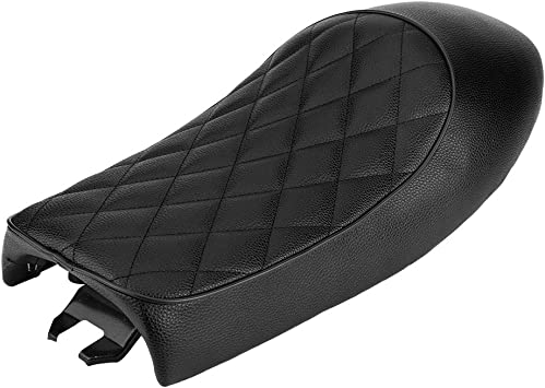 Qiilu Motorrad Sitzbank Sattel Kissen Sitzpad Pu Leder Für Cg125 Gn Cg Cb400ss Swarchz Auto