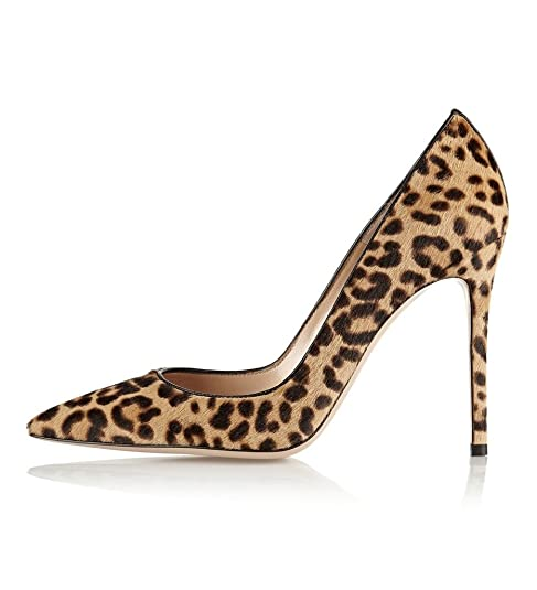 642c2d70bc1151 Kolnoo Damen Leopard Animal Print Pumps Spitz High Heels Kleid-Partei Pumps   Amazon.de  Schuhe   Handtaschen