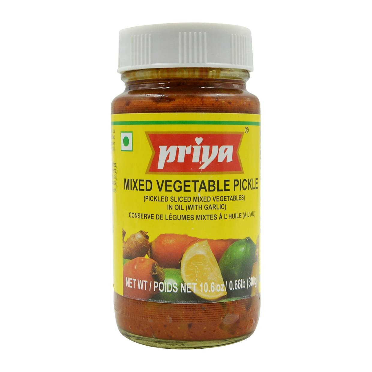 Priya Mixed Vegetable Pickle 10.6 Oz