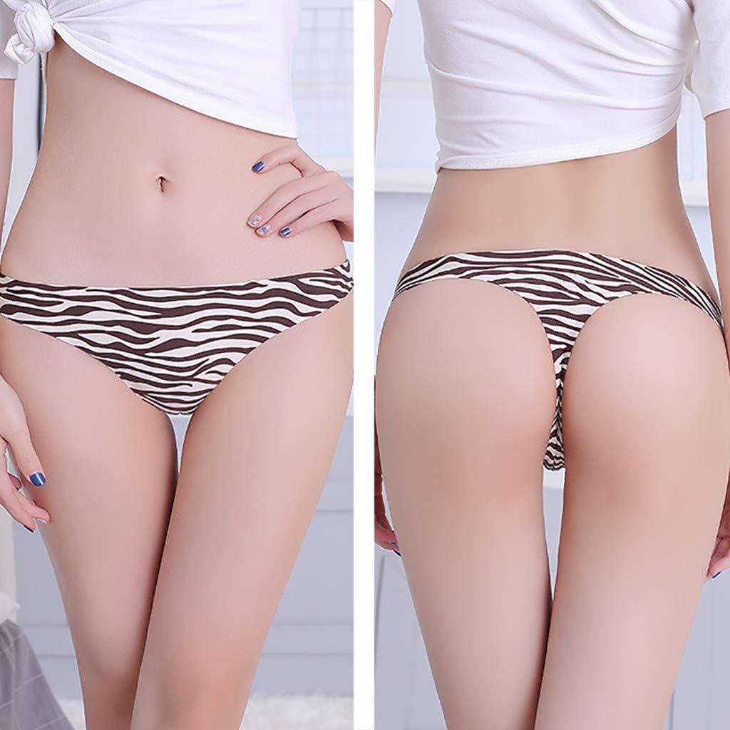 Ropa Interior de Mujer Estampado de Leopardo Cintura Baja de Seda ...