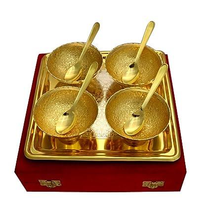 Amazon Com Indian Handicrafts Export German Silver Two Tone Round