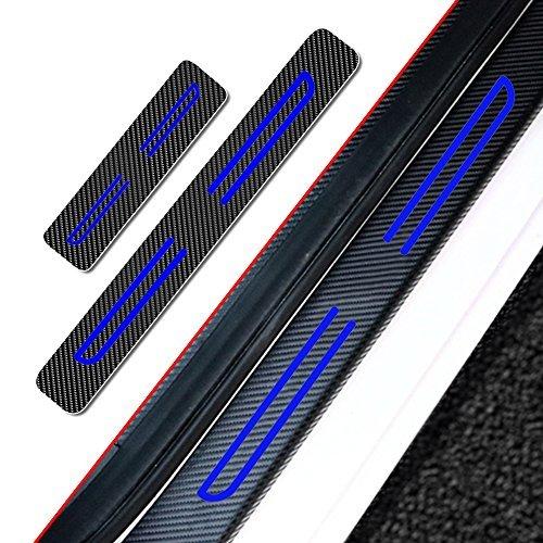 Weigesi Steel Door Sills Scuff Plate Cover Door Sill Protector Cover Trim 4pcs For Dodge Ram 1500-5500 2018-2020