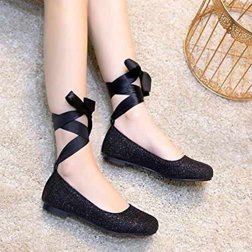 Glitter Daughter Zapatos Ballets Black Melady Flat qFxfRPwTq
