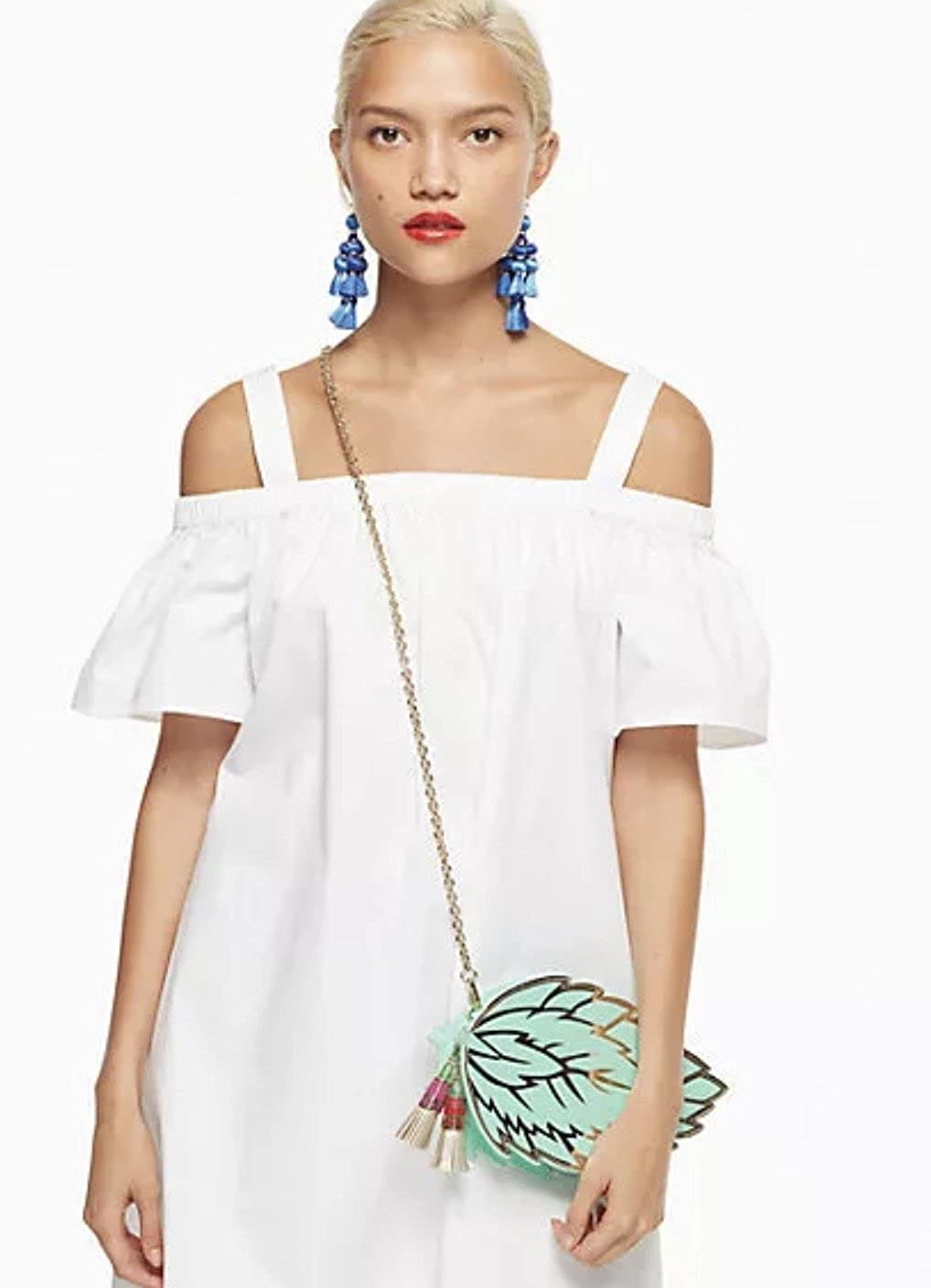 Amazon.com  Kate Spade Full Plume Mint Leaf Crossbody HandBag Womens  Clutch  Shoes 32d6eb238