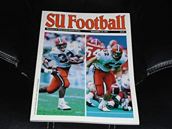 1992 Texas At Syracuse College Football Program Near Mint At