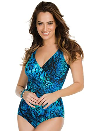 25b2b2599064a Miraclesuit Women s One-Piece Off The Scales Oceanus Swimsuit at ...