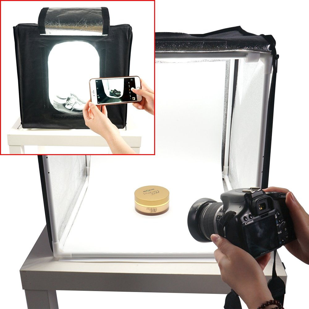 FOTOCREAT 24x24 inch(60x60cm)LED Product Photo Light Tent Kit / Photo Lighting Studio Shooting Tent Box Kit by FOTOCREAT