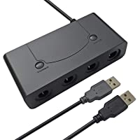 AreMe Gamecube Controller Adapter for Nintendo Wii U, Switch and PC USB