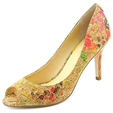 b49152c5953f Ivanka Trump Womens Cleo Leather Peep Toe Classic Pumps