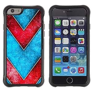 "Pulsar iFace Series Tpu silicona Carcasa Funda Case para Apple iPhone 6+ Plus(5.5 inches) , Modelo de Chevron del rojo azul de la acuarela"""