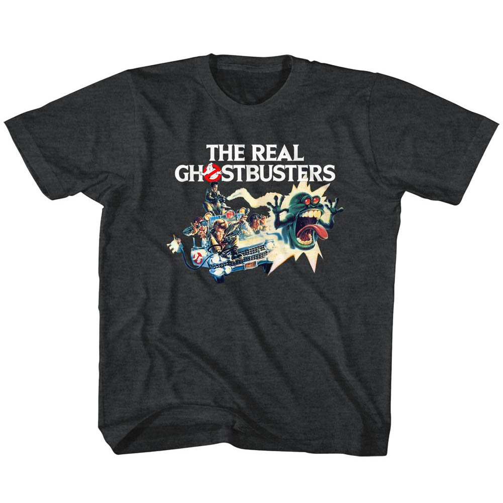 American Classics The Real Ghostbusters TV Series Car Chase Toddler Little Boys T-Shirt Tee