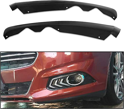 Stay Tuned Performance PU//696//PCF Carbon Fiber Print Front Bumper Body Kit Lip 3PCS Compaitble with 2017-2018 Fusion//Mondeo